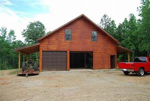 pole garage with living quarters 19 acres in lamar With 36x36 pole barn