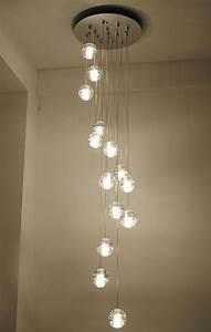 Best Lighting For Stairwell Modern Stairwell Led Chandelier Lighting Large Bubble