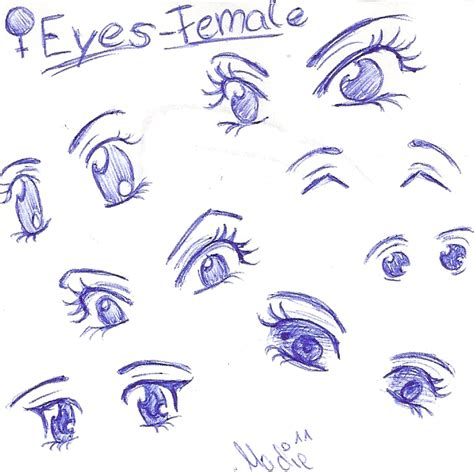 favourite ways  draw female cartoon eyes