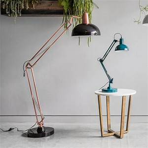aldwych retro hinged floor lamp black contemporary lighting With giant retro floor lamp