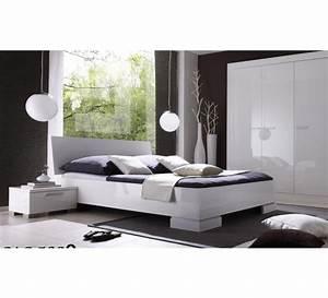 But Lit 160x200 : lit 160x200 moderne blanc laqu lys 1912 ~ Teatrodelosmanantiales.com Idées de Décoration