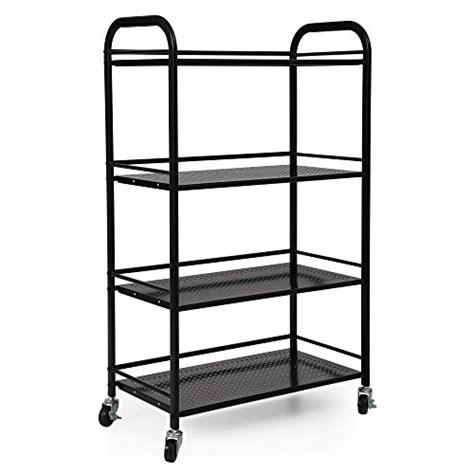 kitchen storage units on wheels songmics 4 shelf shelving unit on wheels weight capacity 8628