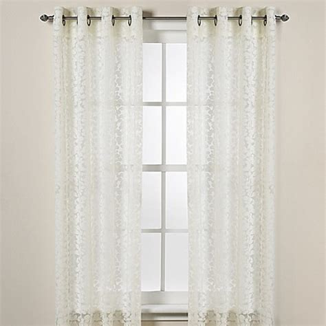 dkny curtains drapes dkny halo grommet sheer window curtain panels in ivory