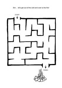 Easy Kids Mazes Printable
