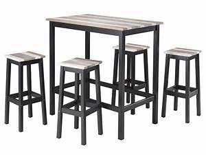 Table Haute 4 Personnes : table haute 4 tabourets turner vente de ensemble table ~ Melissatoandfro.com Idées de Décoration