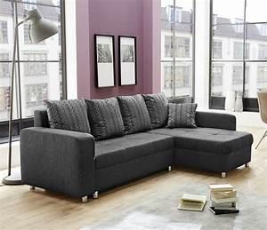 canape d39angle lyon noir gris sb meubles discount With tapis chambre bébé avec canapé d angle convertible lyon