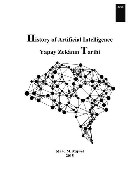 (PDF) History of Artificial Intelligence