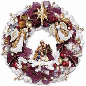 Nativity Scene Christmas Wreaths