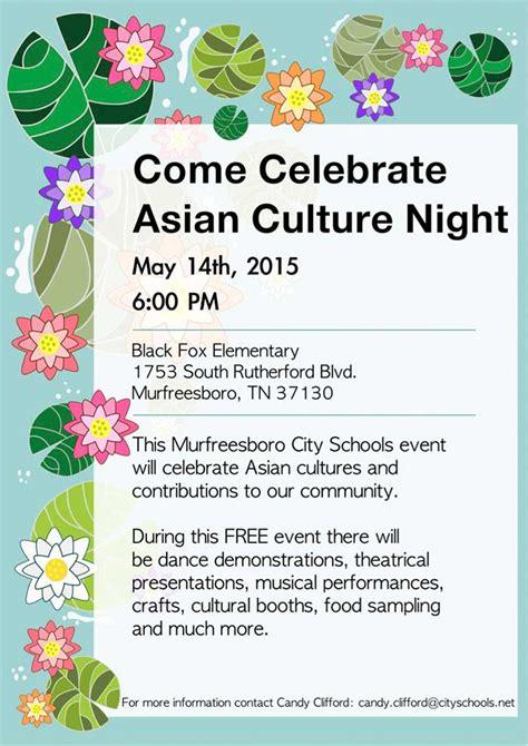 celebrate asian culture night murfreesboro city schools