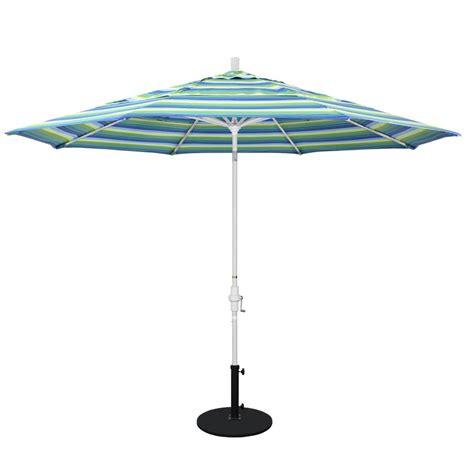 california umbrella  ft white aluminum pole market aluminum ribs crank lift outdoor patio