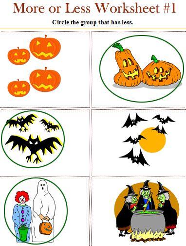 halloween worksheets  pre  kindergarten halloween