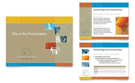 architectural firm powerpoint  template design