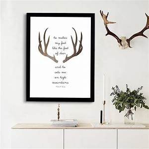 aliexpresscom buy deer bible verse triangles print art With best brand of paint for kitchen cabinets with christian scripture wall art
