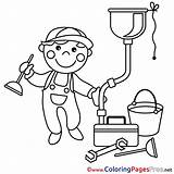 Plumber Sheet Coloring Colouring Pages Work Sheets Title sketch template