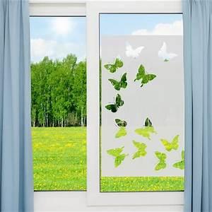 Stickers Pour Vitre : sticker vinyle sabl pour vitre papillons 85x55cm stickers vitre stickers muraux ~ Melissatoandfro.com Idées de Décoration