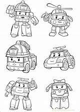 Poli Robocar Coloring Lesson Drawing sketch template