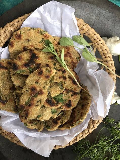 Methi Na Dhebra Sorghum And Millet Flatbread With