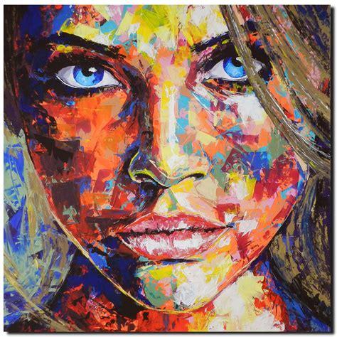 acryl auf leinwand abstrakt kunstwerk original gem 228 lde leinwand acryl modern gesicht