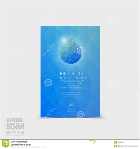 Simplicity Tri Fold Brochure Template Design Stock Vector Simplicity Brochure Template Design