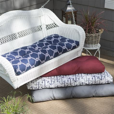 outdoor settee cushion coral coast classic wicker 42 x 19 in settee outdoor