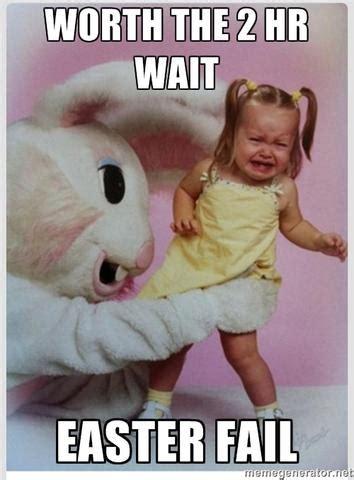 hoppy easter creepy easter bunny pic  scared kid
