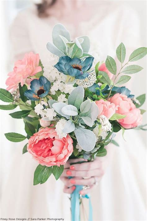 get the look pink spring silk flower bridal bouquet in