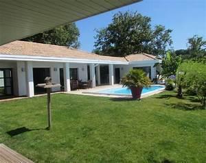 Maison Plain Pied En L : maison plain pied en u avec piscine ~ Melissatoandfro.com Idées de Décoration