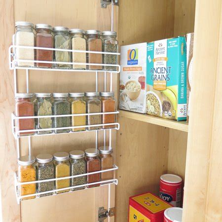 White Spice Rack by Evelots 3 Tier Wall Mounted Spice Rack White Walmart