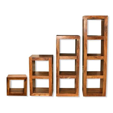 wooden cube shelf cube shelving units solid sheesham wood shelving units
