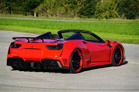 bugatti chiron red novitec reveal 760 hp ferrari 488 spider n largo