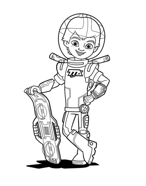 miles  tomorrowland coloring pages