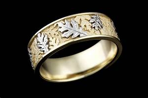 two tone oak leaf wedding band With oak leaf wedding ring
