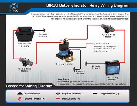 nvx bir80 80 relay and battery isolator