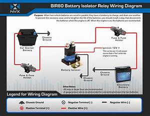 Nvx Bir80 80 Amp Relay And Battery Isolator