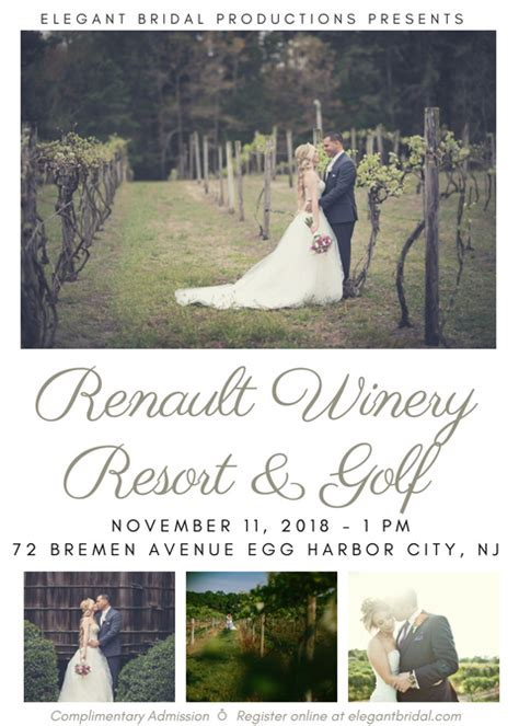 Renault Winery Events by Renault Winery Resort Golf Bridal Show