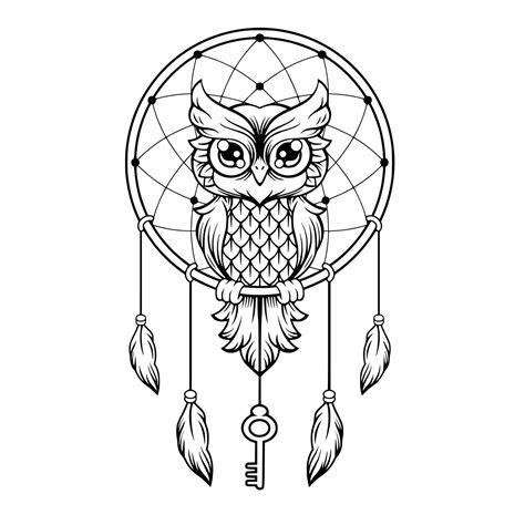 Owl mandala zentangle svg dxf eps png files for cricut 143978. Owl Dreamcatcher SVG Studio Silhouette file | Etsy | Owl ...