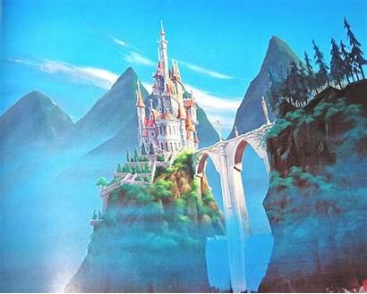 Disney Walt Backgrounds Beast Characters Beauty Castle