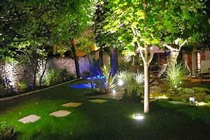 stunning eclairage jardin puissance contemporary design With carrelage adhesif salle de bain avec lampe led fibre optique