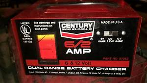Century Dual Range 6 And 12 Volt Battery Charger Made In