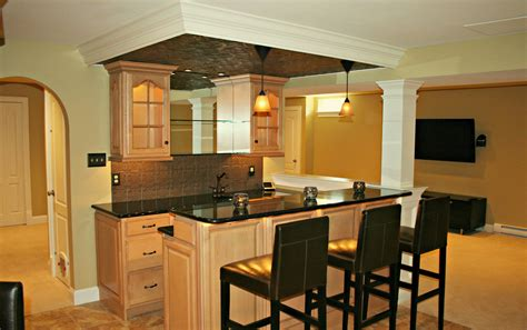 Kitchens With Open Shelving Ideas - basement bars are designed and built by deacon home enhancement