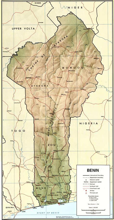 Carte du Benin.