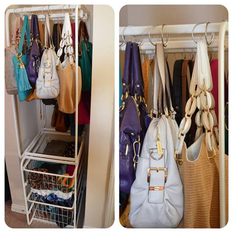 how to organize handbags in closet home improvement