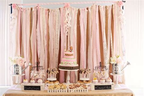 shabby chic western bedding kara s party ideas shabby chic cowgirl birthday party