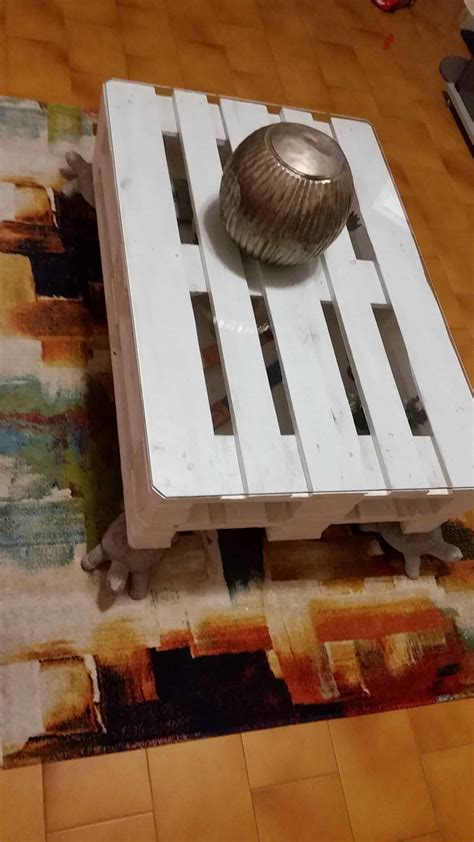 pallet turtle foot table  pallets