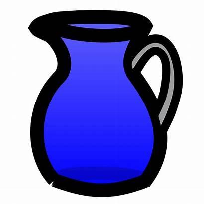 Pitcher Water Clip Clipart Vase Cliparts Jug