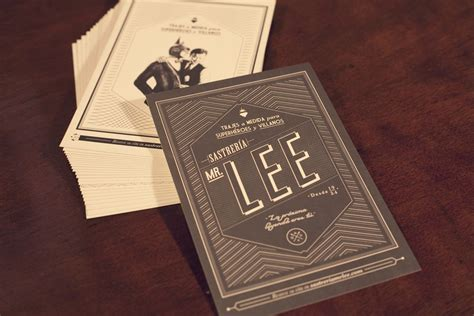 unique business card mrlee tailor businesscards design