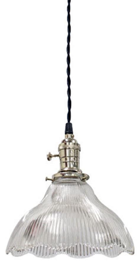 vintage holophane glass pendant vintage barn lighting