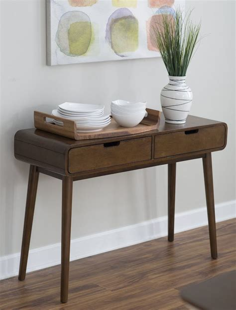 entryway table modern modern console table walnut finish consola muebles