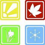 Summer Winter Spring Symbols Autumn Clipart Seasons