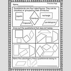 Geometry Game  Printable Worksheets  Classifying Quadrilaterals